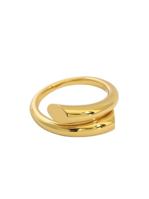 18K gold [14 adjustable] 925 Sterling Silver Irregular Minimalist Stackable Ring